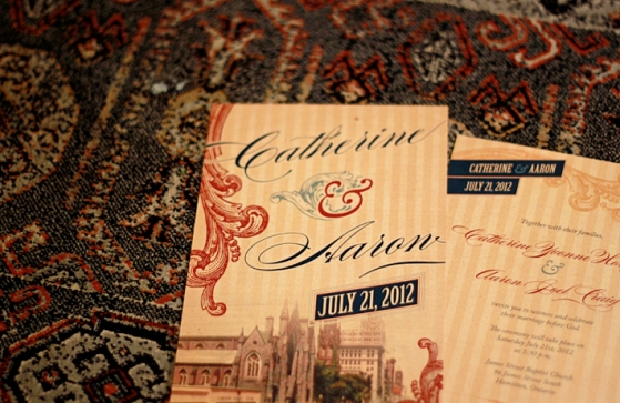Vintage city wedding invitations // JVH