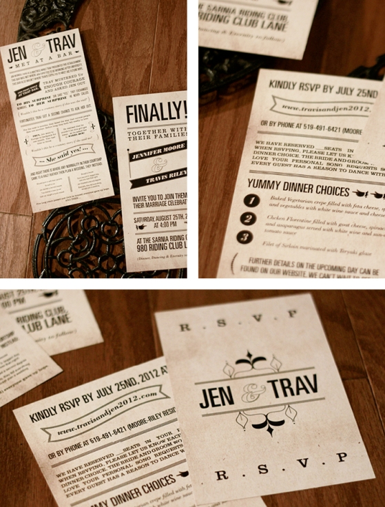 """Story of"" wedding invites // JVH"
