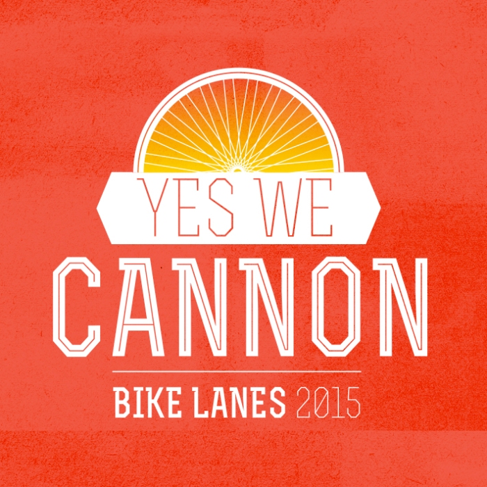 Yes We Cannon - Bikelane campaign design // JVH
