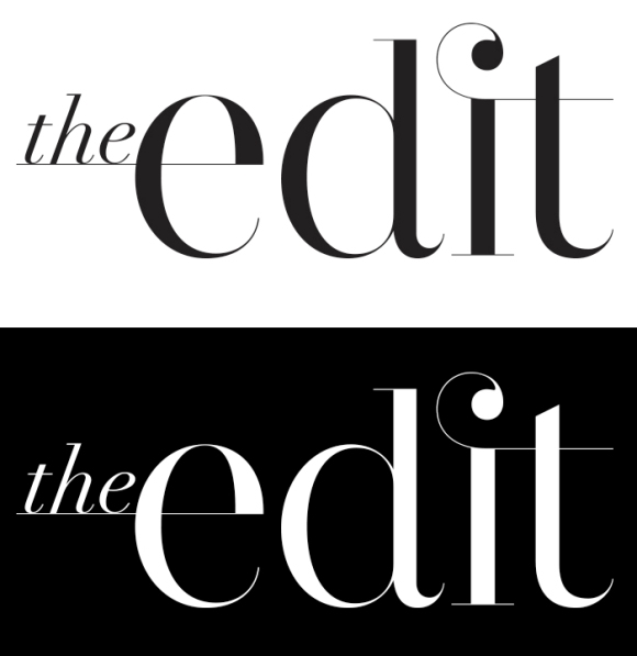 The Edit logo design // Julie Van Huizen